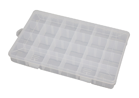 Jewelry Bead Screw Organizer 24 Compartments Clear Plastic Storage Box Container