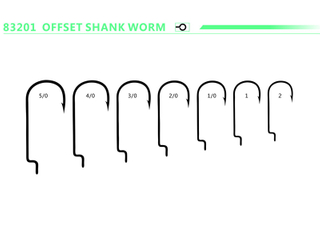 Offset Shank Worm Jig High Carbon Steel Fishing Hooks