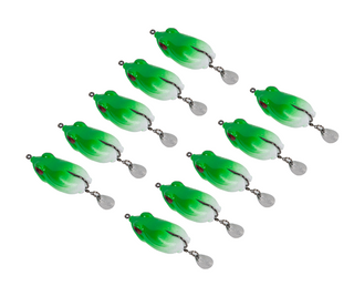 Green Hollow Body Frog Lure Fishing Bait Fishing Tackle