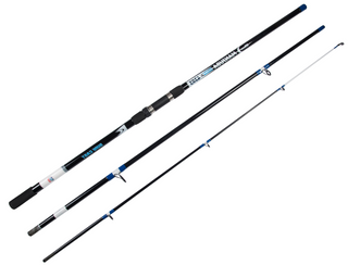 Glass Fiber 3 Sections Spinning Surf Casting Fishing Rod Pole
