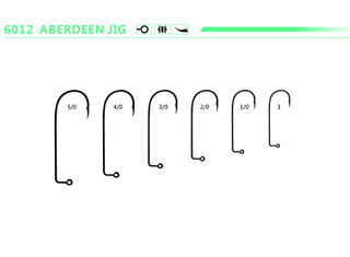 Aberdeen 90 Degree Round Bend Jig Hook Freshwater and Saltwater Fishing Hooks